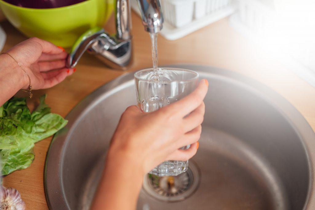 água potável e tratada
