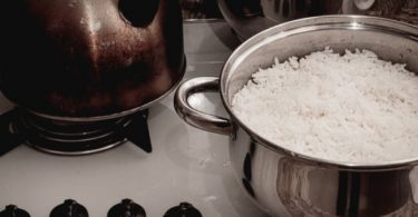 água para cozinhar
